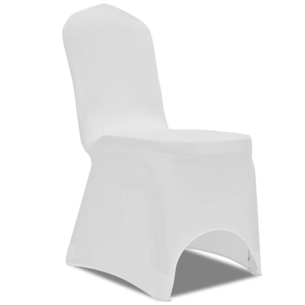 vidaXL Stolsöverdrag stretch 100 st vit
