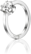 Efva Attling Crown Wedding Ring Vitguld 1,0 Ct Diamant