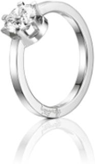 Efva Attling Crown Wedding Ring Vitguld 1,0 ct Diamant