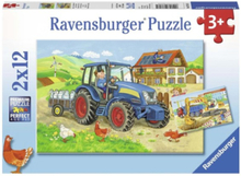 On the Construction Site and Farm Puzzle 2x12st.