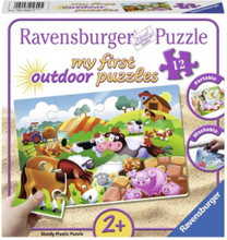 Plastic Puzzle Dear Farm Animals