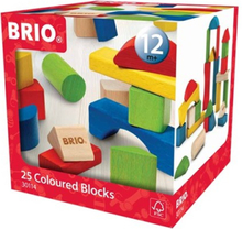 BRIO, 30114 Färgade träklossar, 25 st