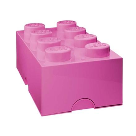 LEGO, Förvaringsbox 8, medium pink