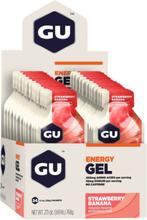 GU Energy Gel Box 24 x 32g Strawberry Banana 2020 Näringstillskott & Paket