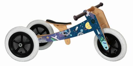 Wishbone 3 in 1 Design Bike Løbecykel Børn Space Limited 2018 blå 2018 Løbecykler
