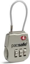 Pacsafe Prosafe 800 TSA-hyväksytty 3-valintakaapelilukko, silver 2019 Matkalukot