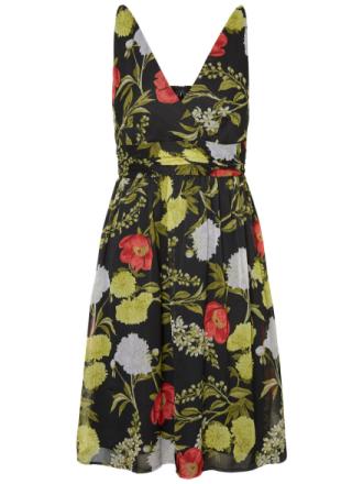 VERO MODA Flower Sleeveless Dress Women Black