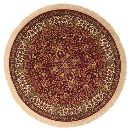 Kerman Diba - Röd matta Ø 150 Orientalisk, Rund Matta