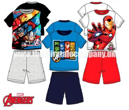 Avengers sommersæt/sommer pyjamas, blå/navy - TheFairytaleCompany