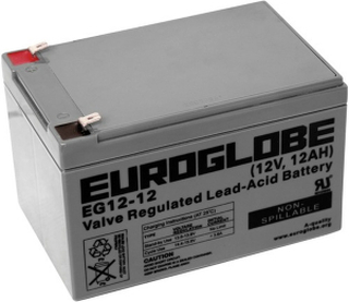 Blybatteri 12V AGM, EUROGLOBE (12 Ah)