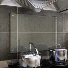 vidaXL Stänkskydd transparent 70x50 cm härdat glas