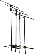 Ibiza Mikrofonstativ, Teleskopisk, 115-170 cm Blå