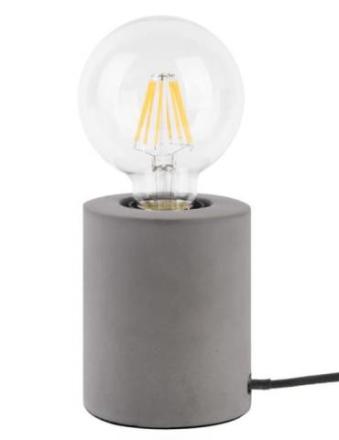 Leitmotiv - Bar - Bordlampe, Mørk Sement