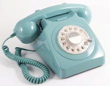 GPO 746 Modern Telefon med Snurrskiva- Blå