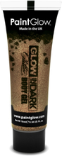 Glow in the Dark glitter gelé for face and krop Bronze