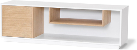 Ziggy mediabänk vitlack/oljad ek 145x40 cm