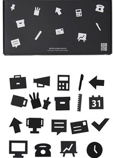 Design Letters Kontorsikoner för Anslagstavla Svart (20-pack)