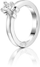 Efva Attling Dolce Vita Princess Ring Vitguld 0,30 Ct