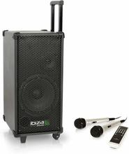 Ibiza PORT8 högtalare med mikrofoner