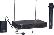Ibiza trådlöst mikrofonset, 2 kanaler