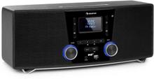Stockton Micro stereosystem max 20W DAB+ FM CD-player BT OLED svart