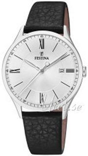 Festina F16978-1 Classic Silverfärgad/Läder Ø40 mm