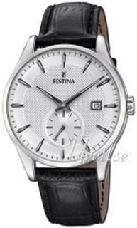 Festina F20277-1 Retro Silverfärgad/Läder Ø41 mm