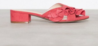 Bianco Slip In Sandal Tofflor Coral Red