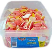 120 stk Sour Peach Hearts / Sure Godterihjerter - Halal Sertifisert