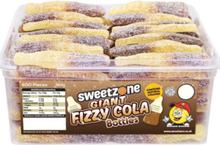 60 stk Sweetzone Giant Fizzy Cola Bottles - Boks med Store Sure Colaflasker