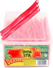 110 stk Dexters Strawberry Dyna Stix / Godteristenger med Jordbærsmak - Halal Sertifisert
