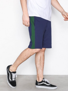 Topman Navy And Green Jersey Shorts Shorts Multicolor