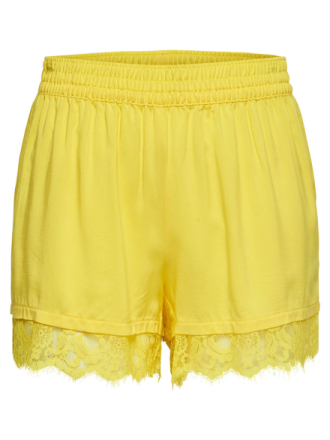 ONLY Lace Shorts Women Yellow