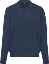 Tröja krage i 100% ren ny ull, modell Achim från Peter Hahn blå