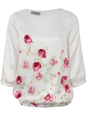 Skjorte 100% silke Fra Uta Raasch multicolor - Peter Hahn