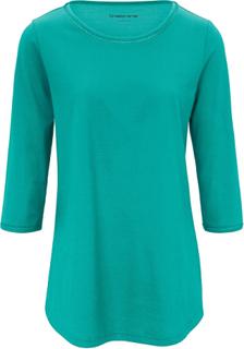 Top i lång modell 3/4-lång ärm från Green Cotton grön
