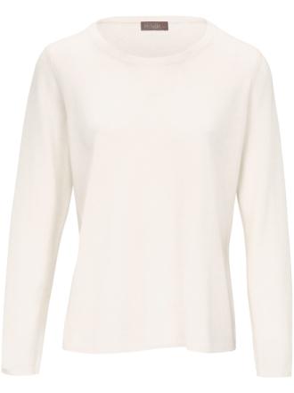 Rundhalsad tröja från include vit