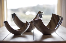 3 smukke aluminiums skåle (22 cm., 30 cm., 34 cm.)