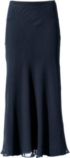 Kjol i äkta silke från Peter Hahn blå