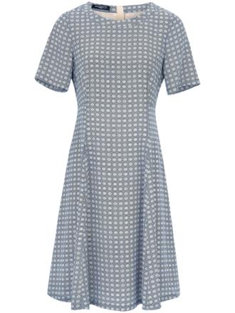 Kortärmad klänning i äkta silke från Fadenmeister Berlin mångfärgad