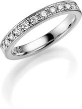 Schalins Vigselring 18k Vitguld 237-33.12 0,36 Ct Diamant