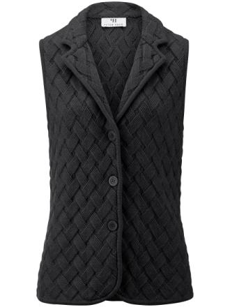Stickad väst i 100% ren ny ull, Biella Yarn från Peter Hahn lila
