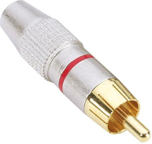 RCA Phono Connector Aluminium Gold Röd