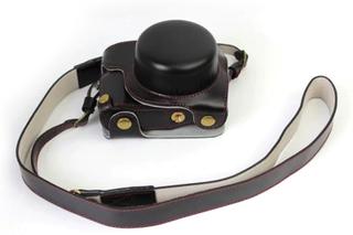 Panasonic DMC-GF8 og GF7 Beskyttelsesveske laget av kunstlær - Svart
