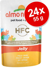 Sparpaket Almo Nature HFC Jelly Pouch 24 x 55 g - Thunfisch & Seezunge