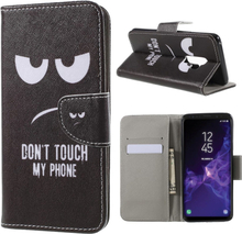 Samsung Galaxy S9 Plus Etui laget av kunstlær og silikon - Ikke rør mobilen