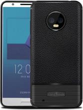 Motorola Moto G6 silikon børstet tekstur deksel - Svart