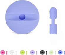 Apple pencil lade stasjon med beskyttelses hette i silikon - Baby blå