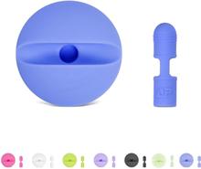 Apple pencil lade stasjon med beskyttelses hette i silikon- Mørke blå