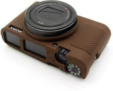 Sony DSC-RX100 Mark III, IV, M3 and M4 Beskyttelsesdeksel laget av silikon - Brun
